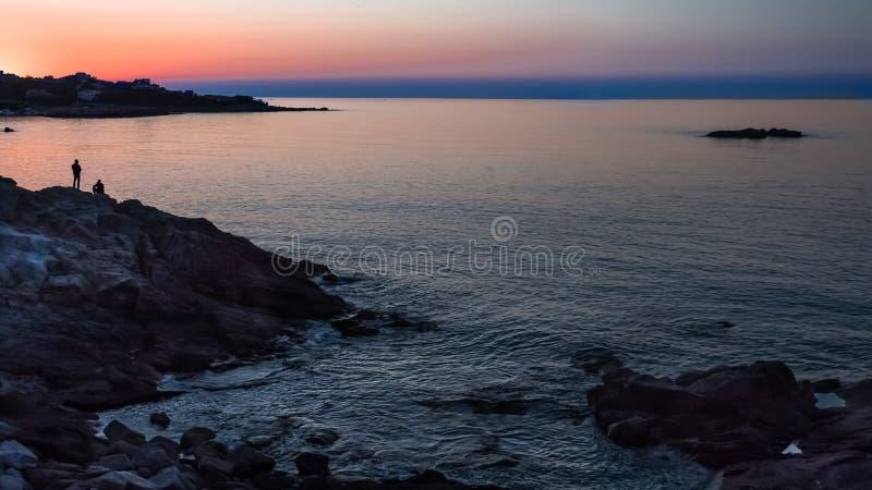 Sunset at the Ocean Panorama stock image