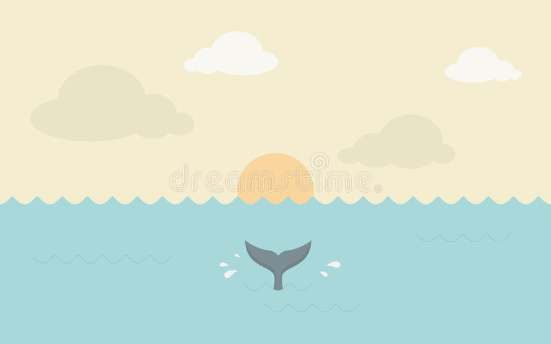 sunset in the ocean royalty free stock image