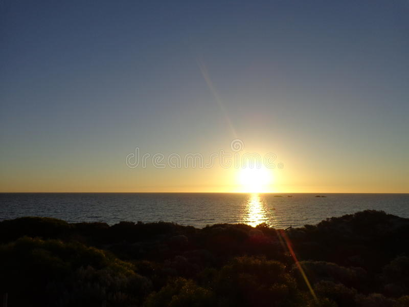 Sunset off Perth, Western Australia stock photo