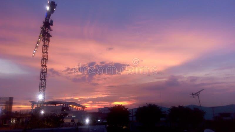 Sunset. In the office cikande serang banten stock photography
