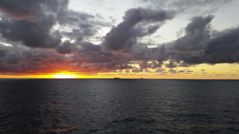 Sunset in the offshore area, FPSO and other vessels together in an offshore day. MORE OPTIONS IN MY PORTFOLIO stock photos
