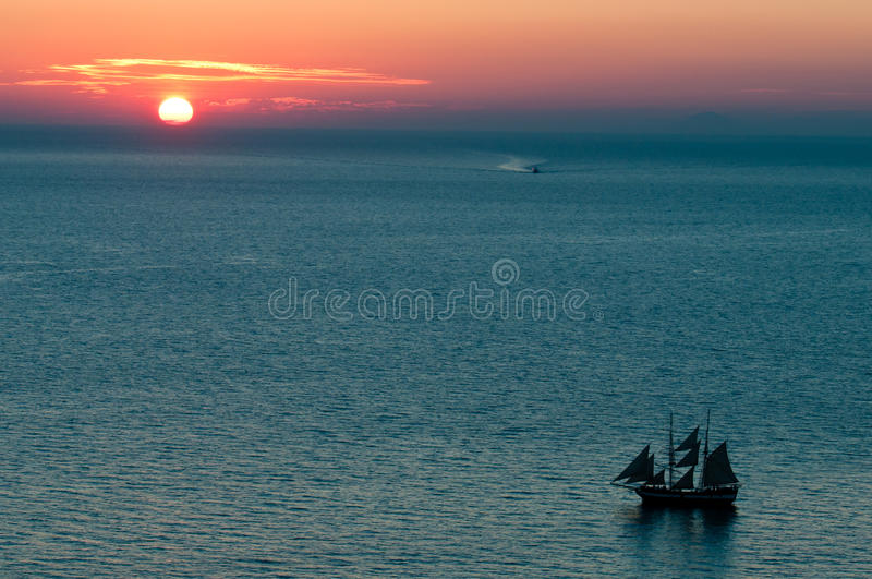 Download Sunset in Oia stock photo. Image of travel, vacation - 22023286