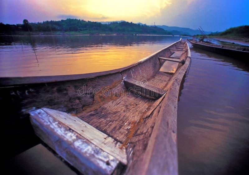 Download Sunset and old boat stock image. Image of shine, orange - 7735143