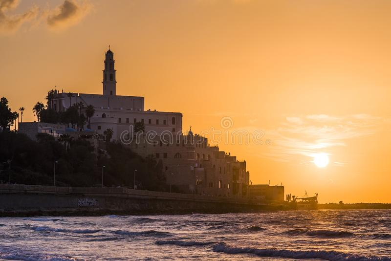 Sunset from the old city stock photo