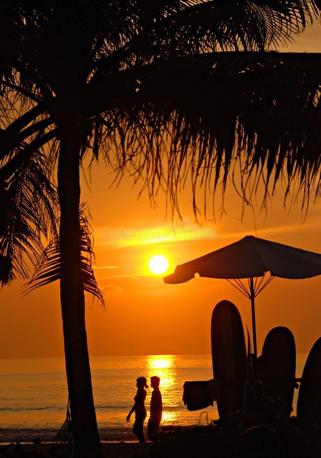 Free Sunset On Kuta Beach, Bali Stock Photo - 10406440
