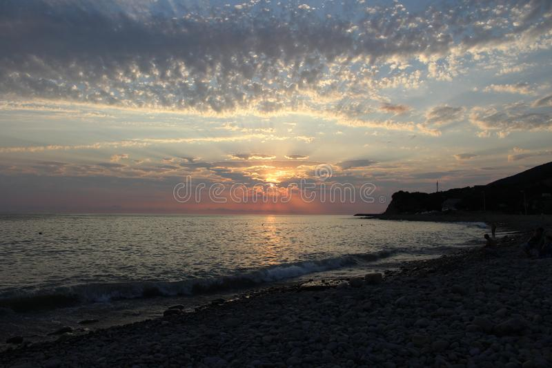Sunset is one of the most fascinating phenomena of nature. stock images