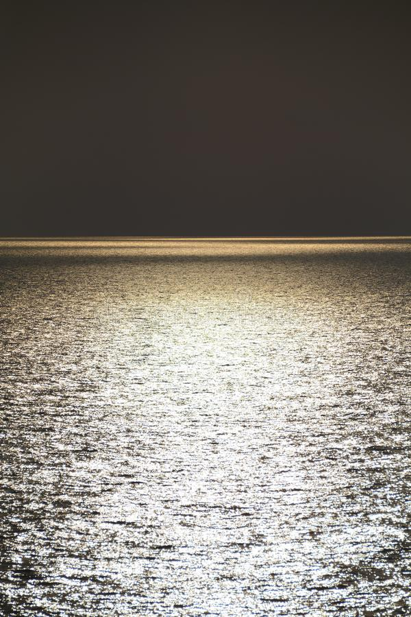 Sunset at the open sea. Background ocean concept. Golden hour royalty free stock photos