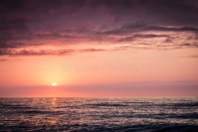 Sunset In Open Sea Free Public Domain Cc0 Image