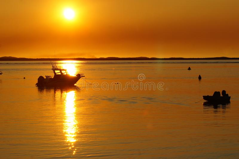 Sunset at 1770 royalty free stock photography
