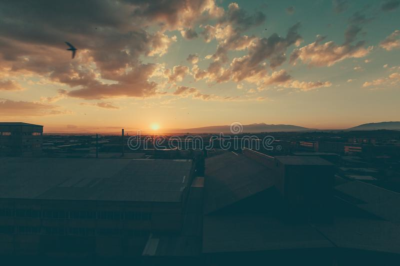 Download Sunset On The Outskirts Of Yerevan, Armenia Stock Image   Image Of  Exterior,