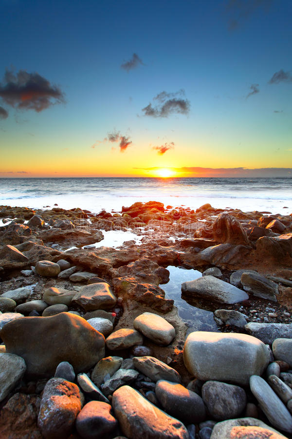 Download Sunset over Atlantic Ocean stock photo. Image of horizon - 16435830