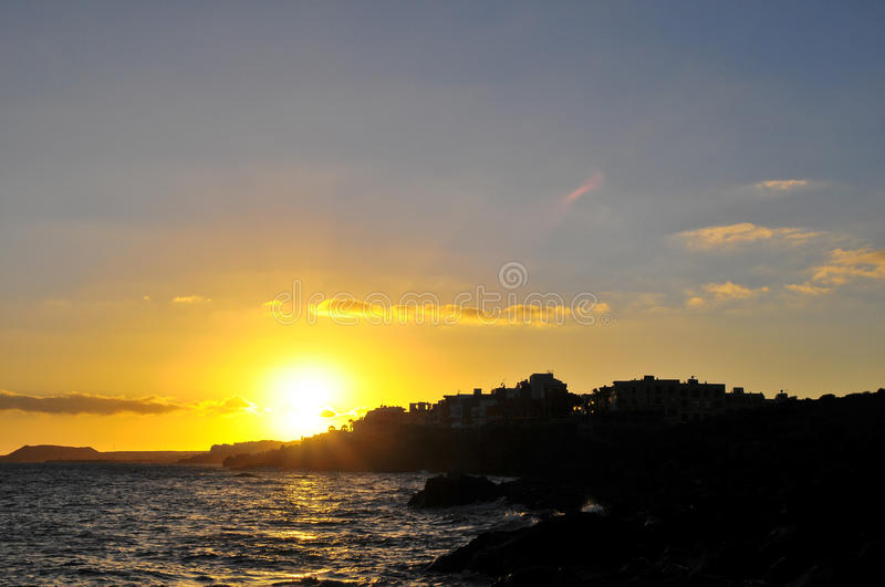 Sunset Over The Atlantic Ocean Stock Photography