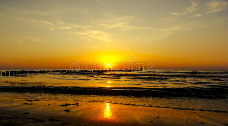 Download Sunset over baltic sea stock photo. Image of dusk, blue - 28345850