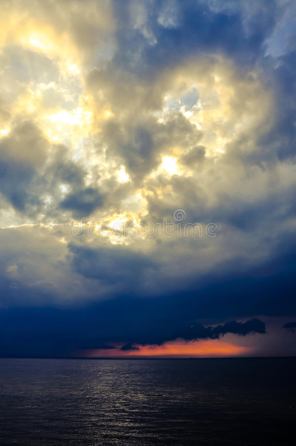Download Sunset over baltic sea stock photo. Image of blue, evening - 28350314