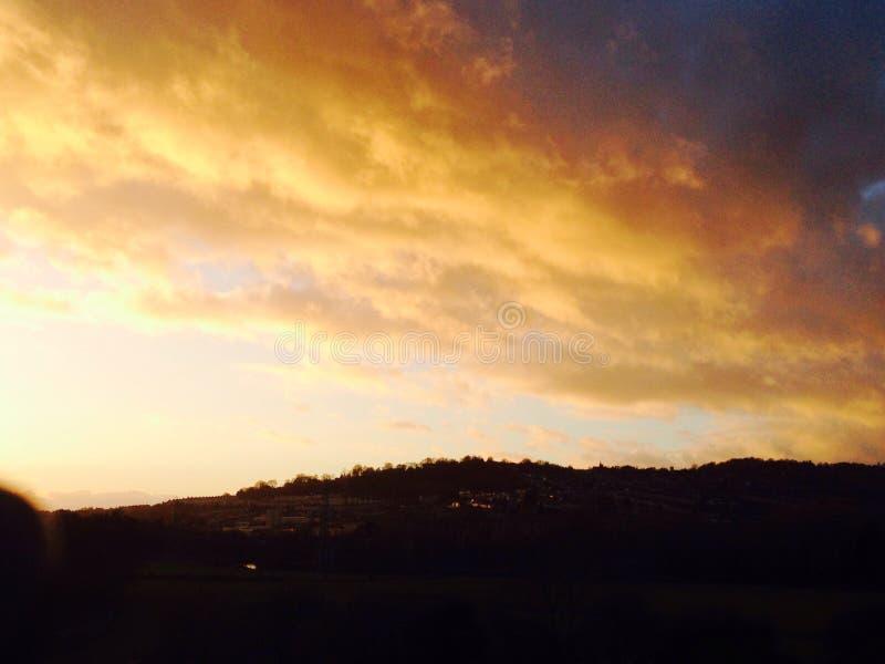 Sunset over Bath royalty free stock photos