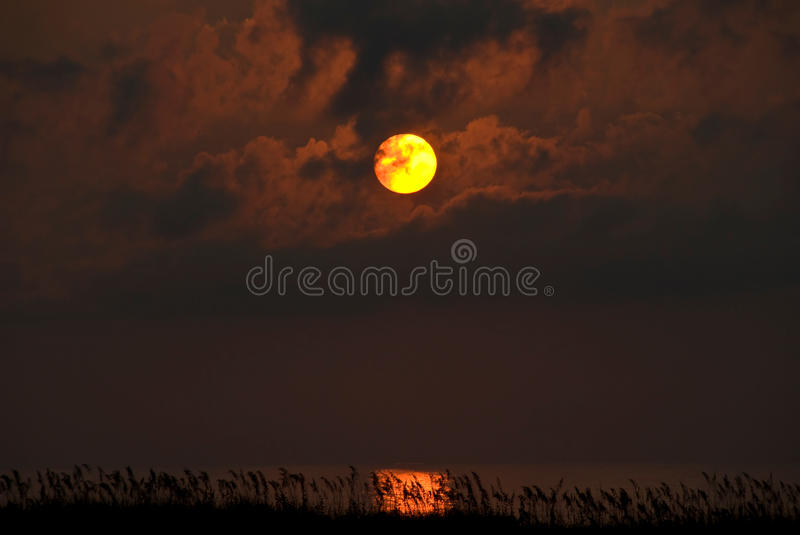 Download Sunset Over Bay, Outer Banks, NC Stock Photo - Image: 14657046
