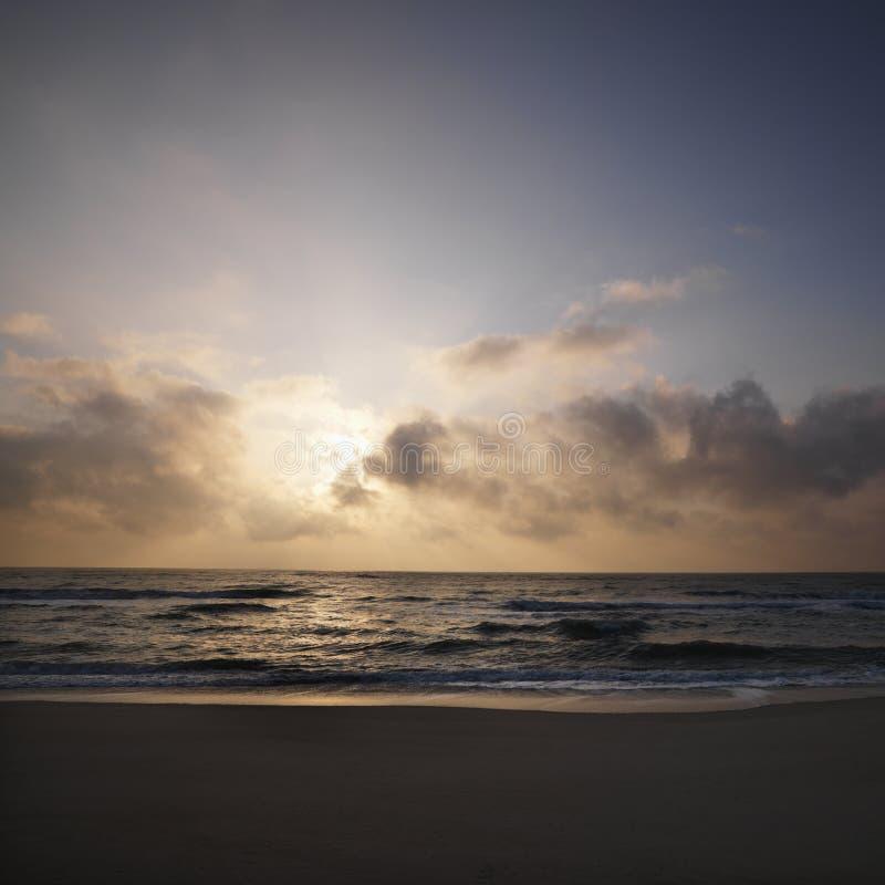 Sunset Over Beach. Royalty Free Stock Photos