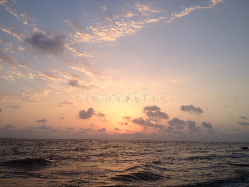 Sunset over the Black Sea stock images
