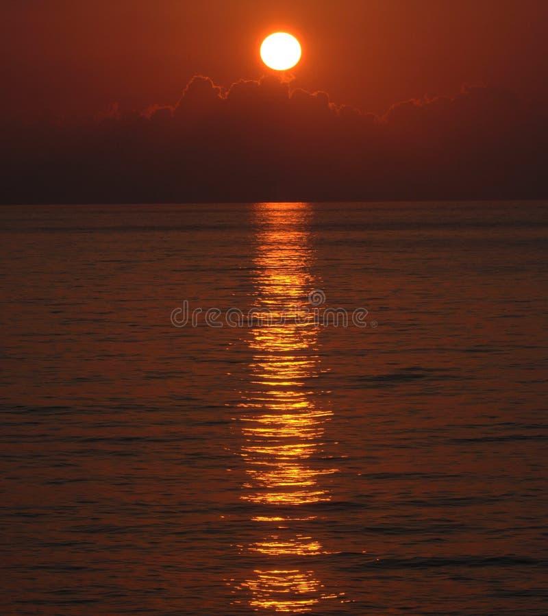 Sunset over the Black Sea stock photo