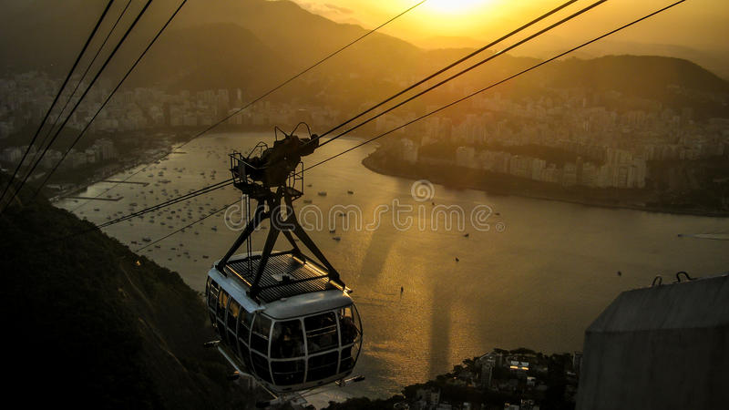 Sunset over Botafogo royalty free stock image