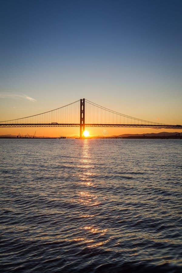 Sunset over the bridge in Scotland stock photos