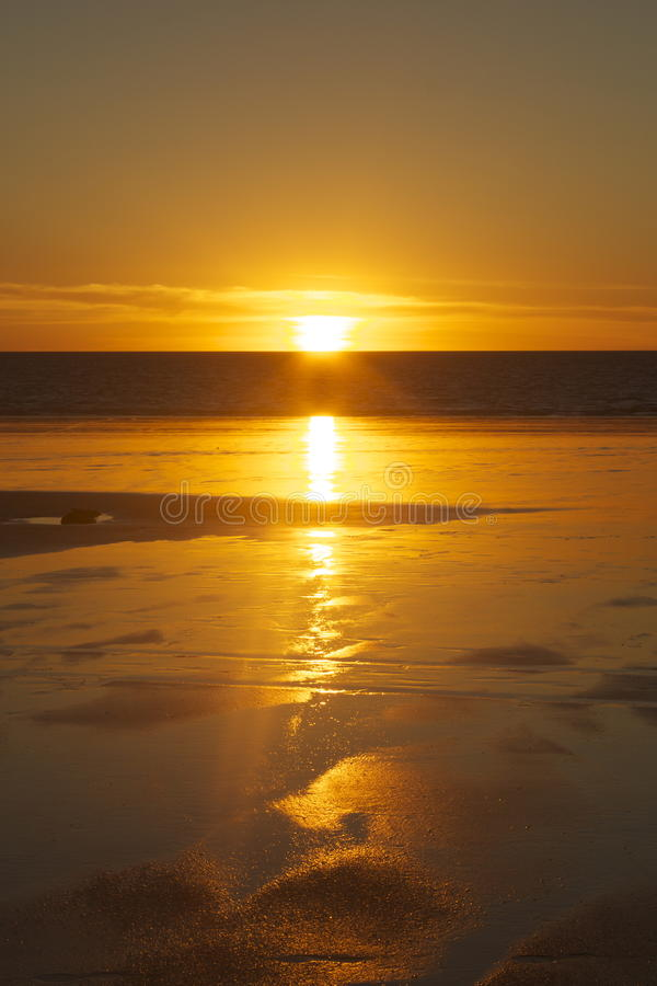 Sunset at Low Tide royalty free stock photos