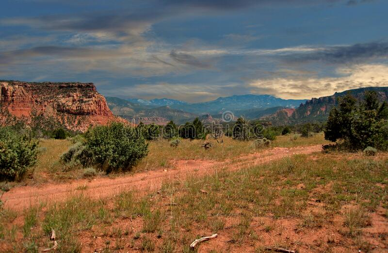 Sunset over Canyonlands in Moab, Utah royalty free stock photography