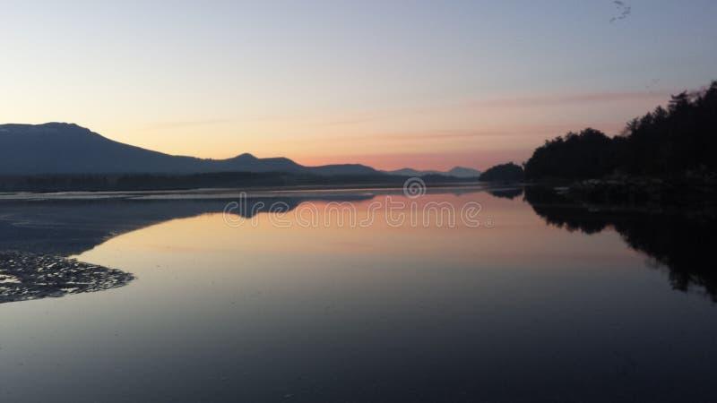 Beautiful chilliwack sunset stock photos