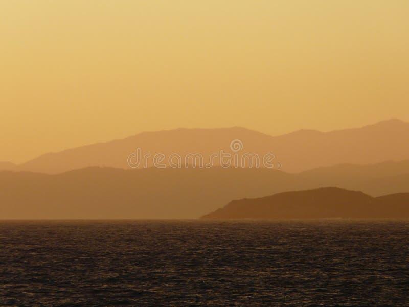 Download Sunset Over Coastal Mountains Stock Image - Image: 14096731