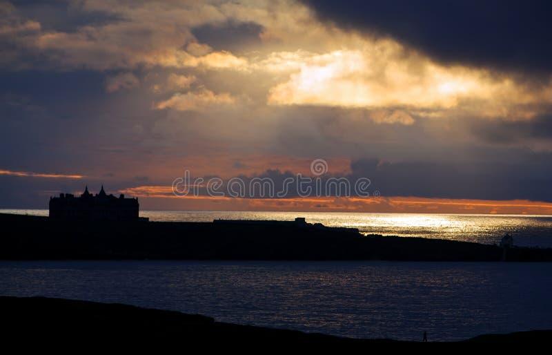 Sunset Over Coastline Stock Photography