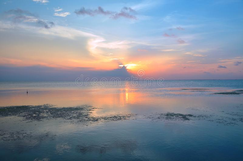 Sunset over Copono royalty free stock photos