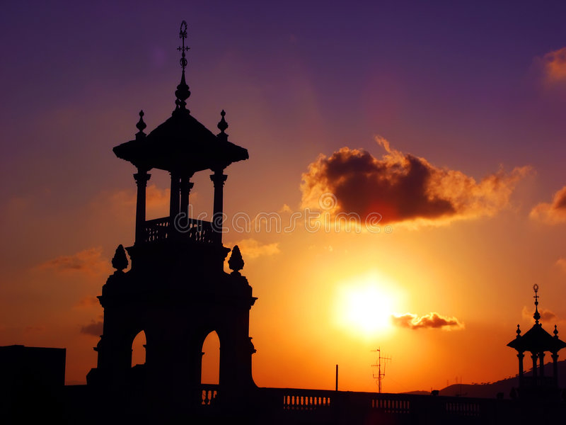 Download Sunset Over Cupola Structures Stock Photo - Image of sunrise, architectural: 5566168