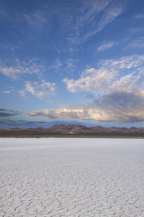 Sunset over the desert stock photography