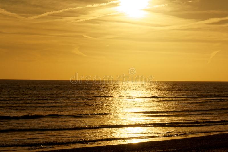 Sunset over the English Channel royalty free stock photos
