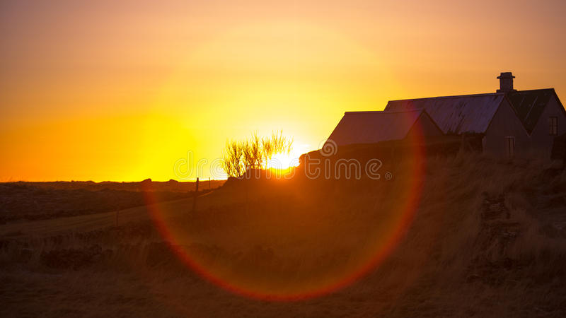 Download Sunset over a farm stock photo. Image of fresh, happiness - 29231606