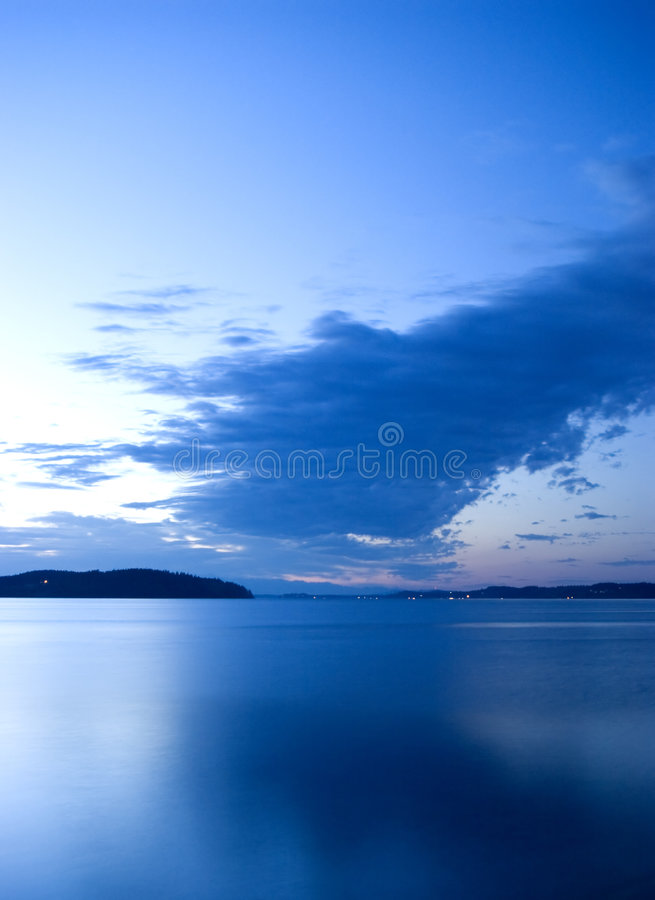 Sunset over Glass. Sunset over the ocen in the pacific northwest stock image