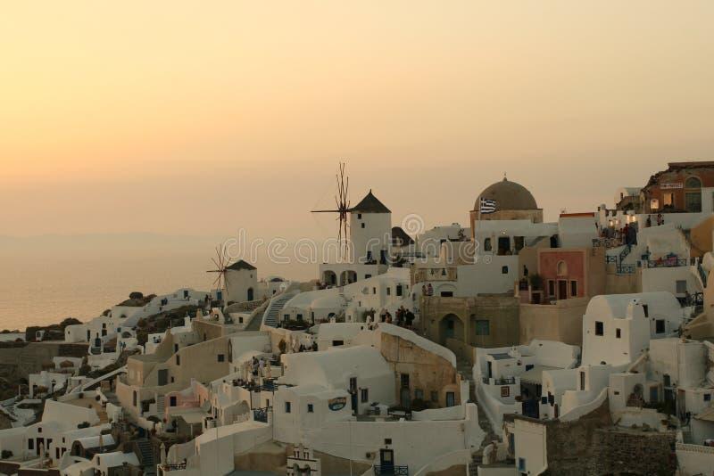 Download Sunset Over Greek Village stock photo. Image of orange - 5792012