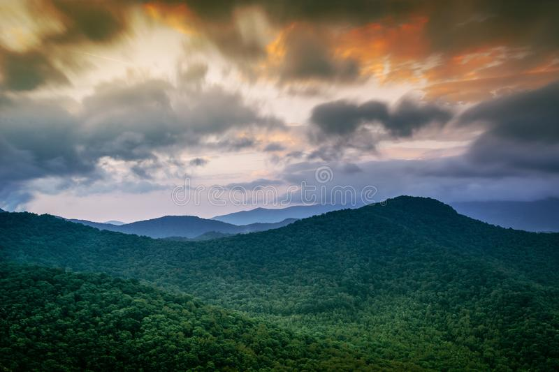 Sunset Over Green Alpine Forest Free Public Domain Cc0 Image
