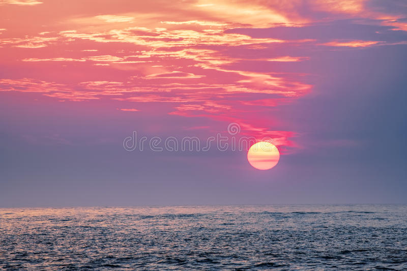 Sunset over the Gulf of Mexico, Clearwater, Florida USA. Beautiful Sunset over the Gulf of Mexico from the beaches of Clearwater, Florida USA stock images