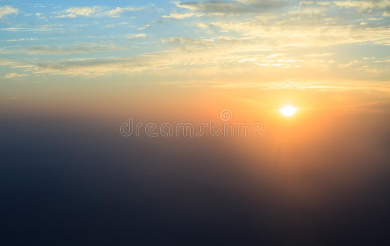 Download Sunset Over The Gulf (view From Plane). Royalty Free Stock Photos - Image: 30287088