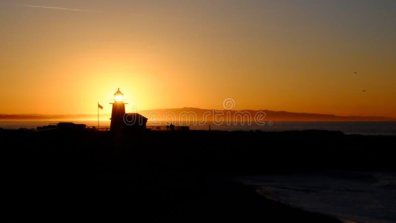 Sunset over the Horizon stock image