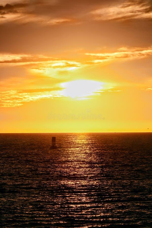 Sunset over the Horizon royalty free stock photo