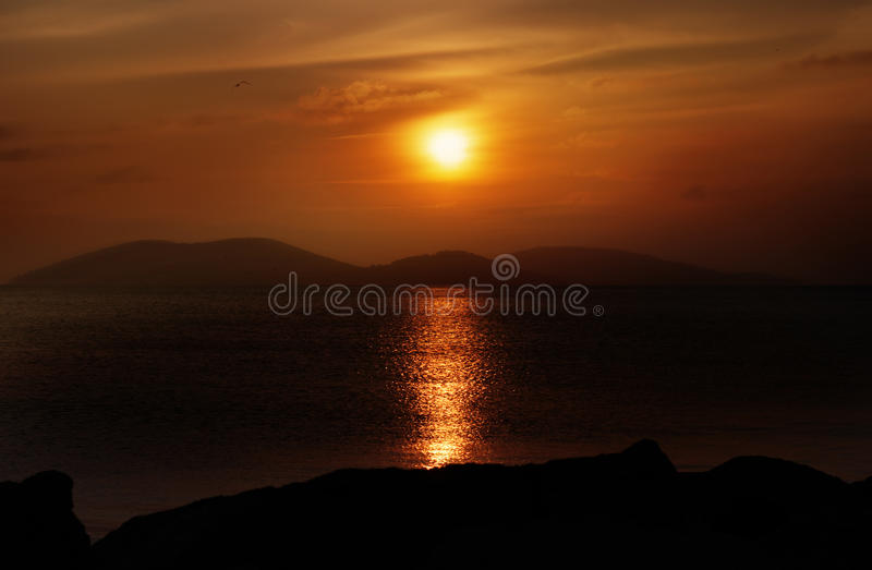 Sunset Over The Islands royalty free stock photography