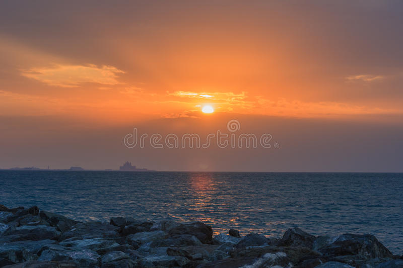 Download Sunset over Jumeirah beach stock image. Image of background - 31903713