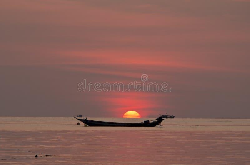 Sunset over stock photo