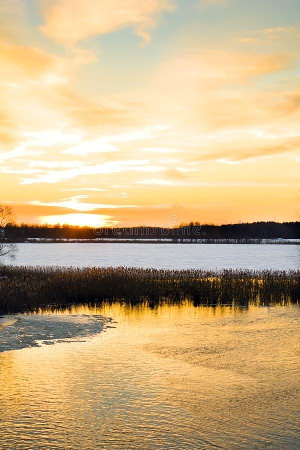 Free Sunset Over Lake Royalty Free Stock Image - 22430326
