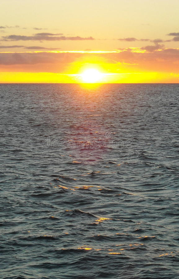 Sunset over Lake Michigan. Taken from a Wisconsin shoreline royalty free stock photos