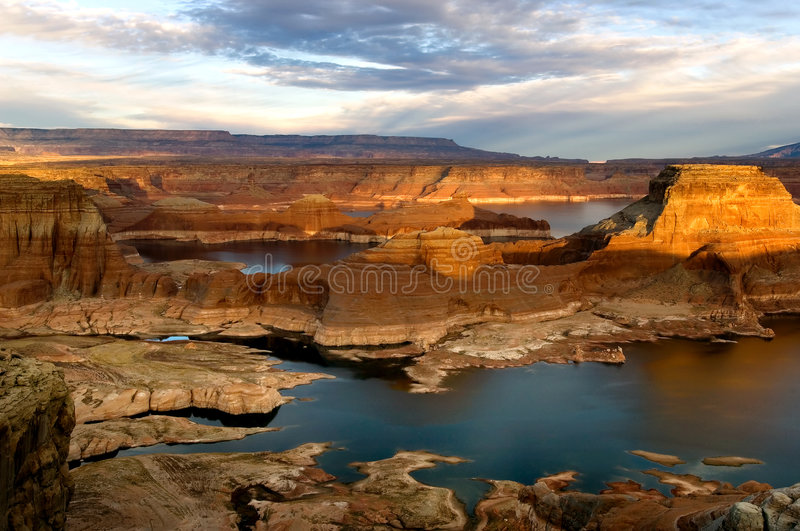 Sunset over lake Powell royalty free stock images