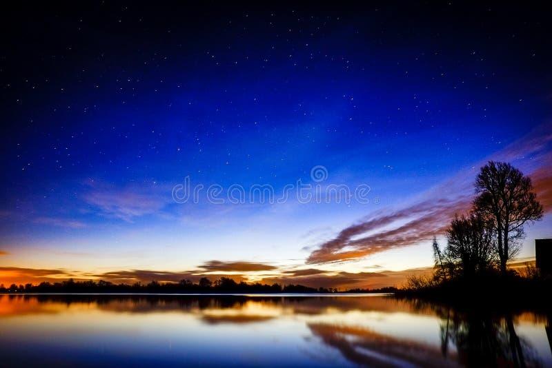 Sunset Over Lakefront Free Public Domain Cc0 Image