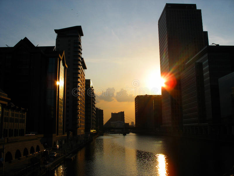 Download Sunset Over London Docklands. Stock Photography - Image: 20734252